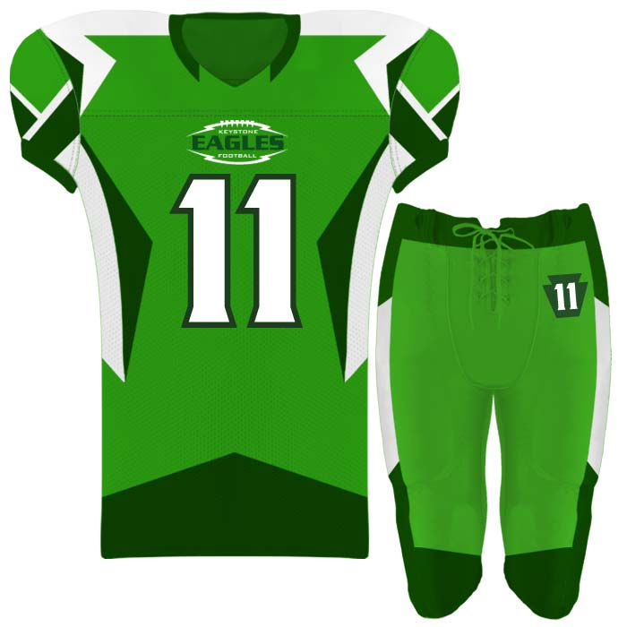 Elite Concave Football Uniform Custom Sublimated Jersey and Pants