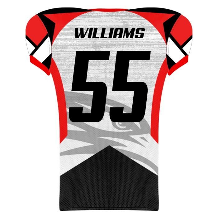 Elite Concave Football Uniform Custom Sublimated Jersey Back View