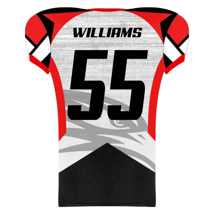 Elite Concave Football Uniform Custom Sublimated Jersey Back View