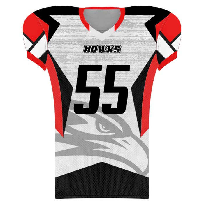 Elite Concave Football Uniform Custom Sublimated Jersey Front View