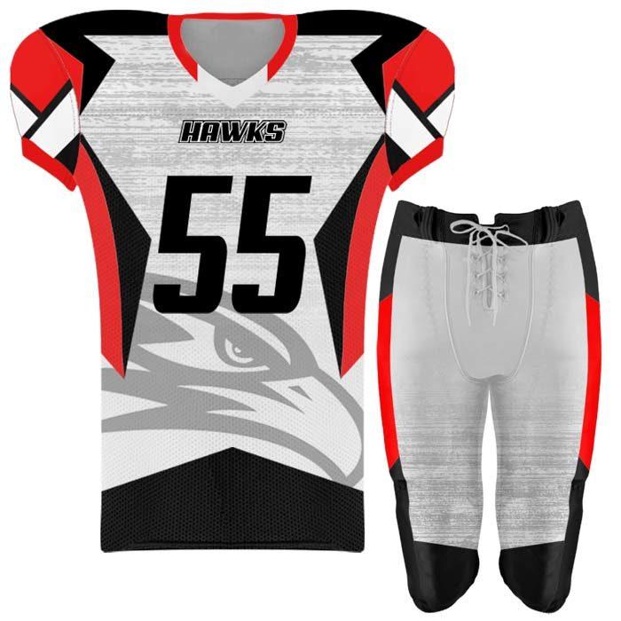 Elite Concave Football Uniform Custom Sublimated
