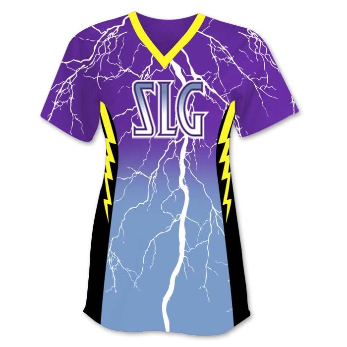 Elite Thunderstruck Custom Fastpitch Jersey, Gradient Lightning Bolts
