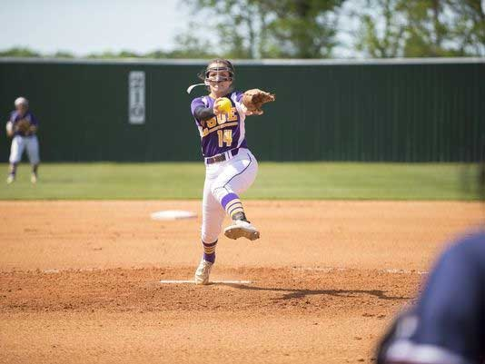 LSUE Pitcher, Abigail Leonards advocate for Fastpitch Fields Face Masks