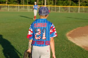 Got Your Six on the Elite Camo Rilla baseball jersey designed by great uniform supplier.
