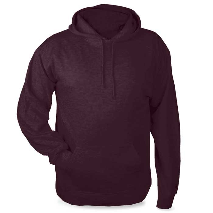 Maroon Highlight Hoodie with Your Team Logo