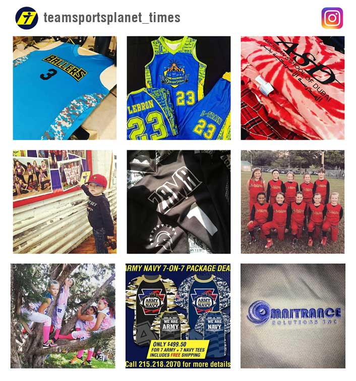 Team Sports Planet Instagram account