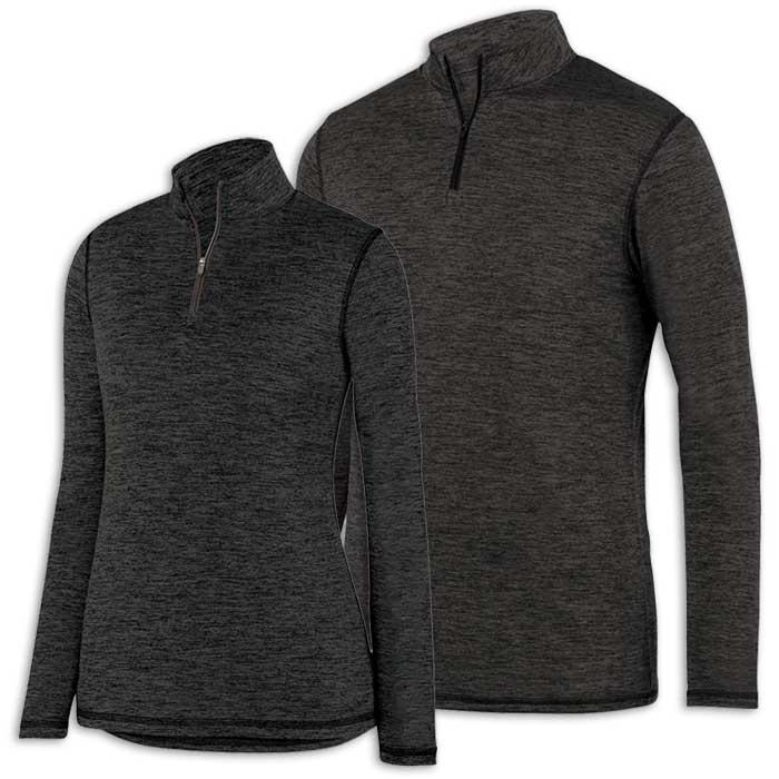 Black Intensify Black Heather Quarter Zip Pullover