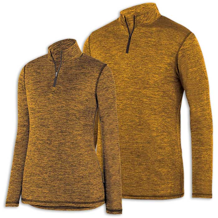 Gold Intensify Black Heather Quarter Zip Pullover