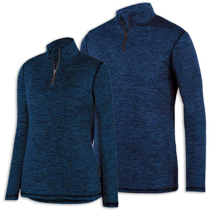 Navy Blue Intensify Black Heather Quarter Zip Pullover
