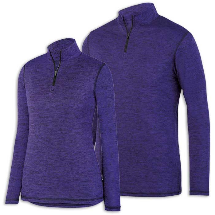 Purple Intensify Black Heather Quarter Zip Pullover
