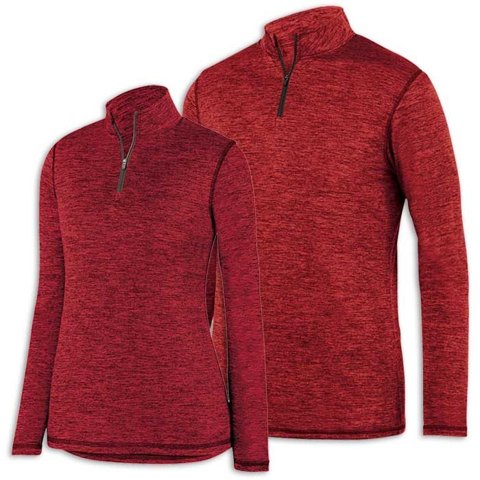Red Intensify Black Heather Quarter Zip Pullover