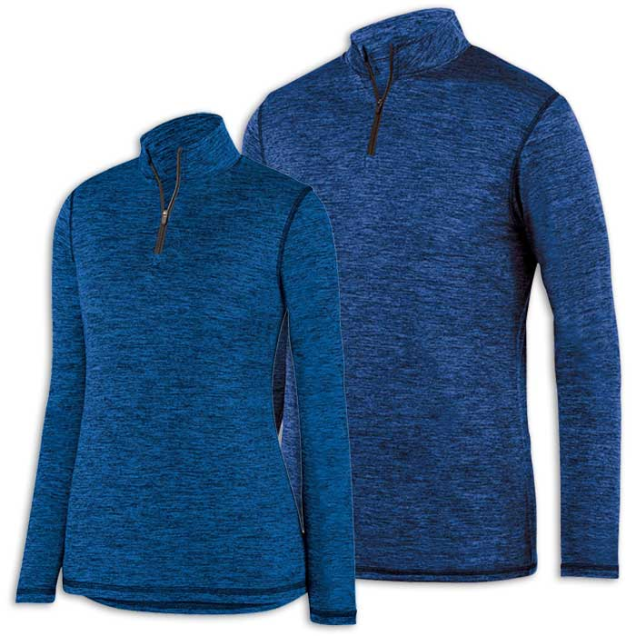 Royal Intensify Black Heather Quarter Zip Pullover