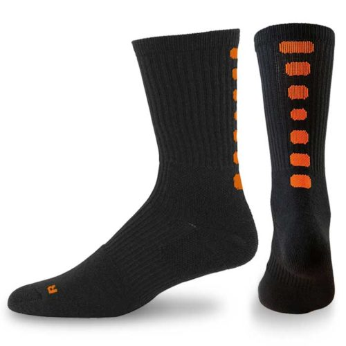 Pegasus Crew Sock in black-orange, Basketball Team Socks