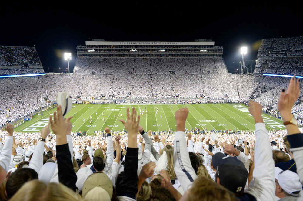 penn state white out spirit wear