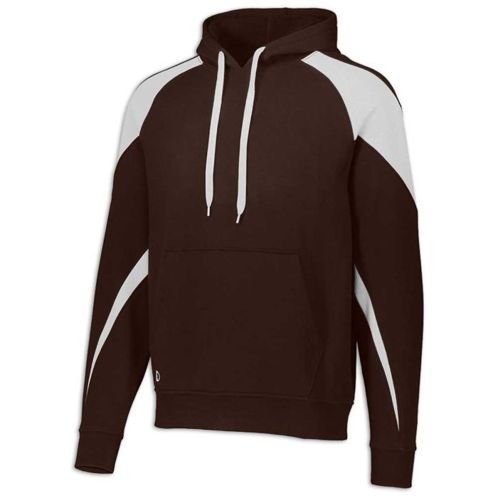 Brown and White Prospect Hoodie