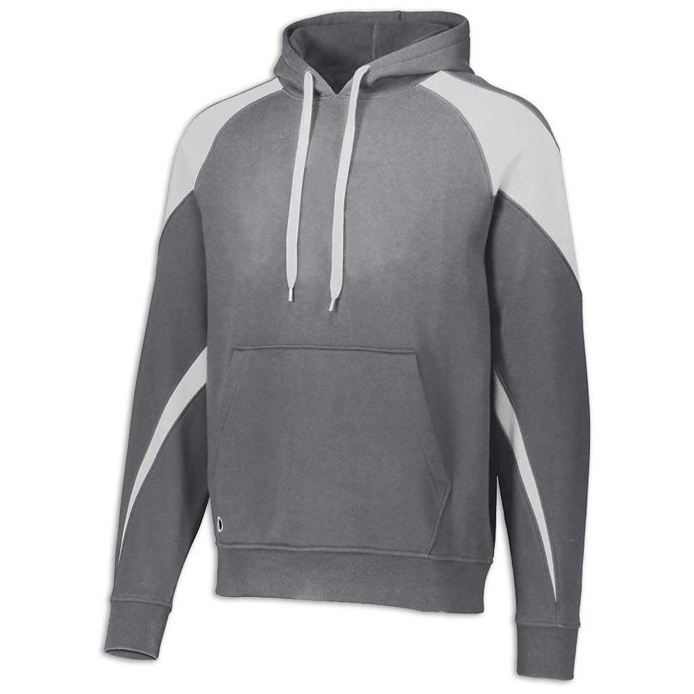Charcoal and White Prospect Hoodie