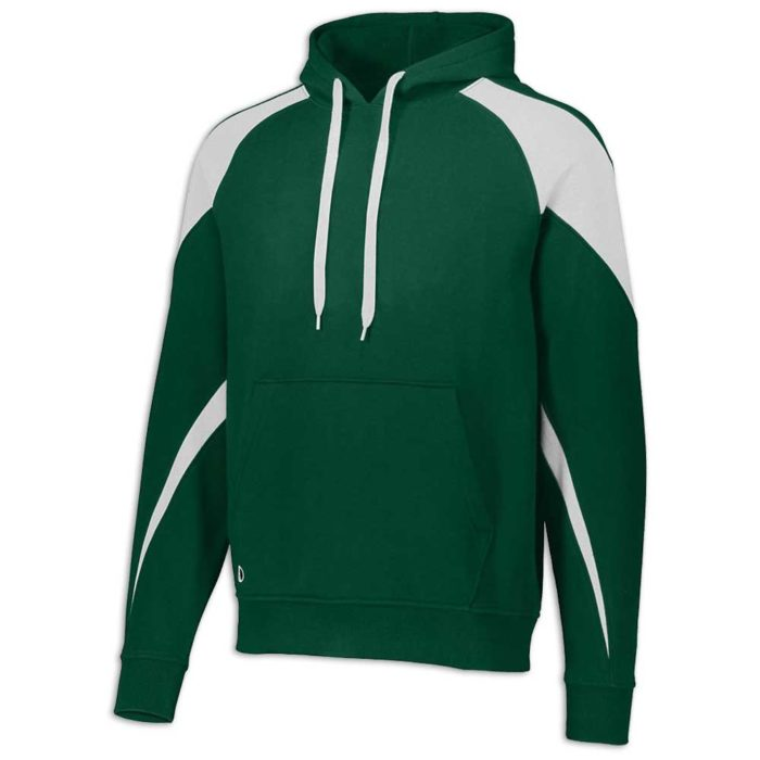 Dark Green and White Prospect Hoodie
