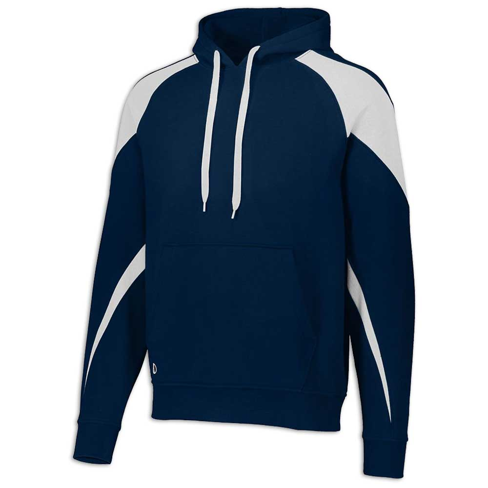 Navy Blue and White Prospect Hoodie
