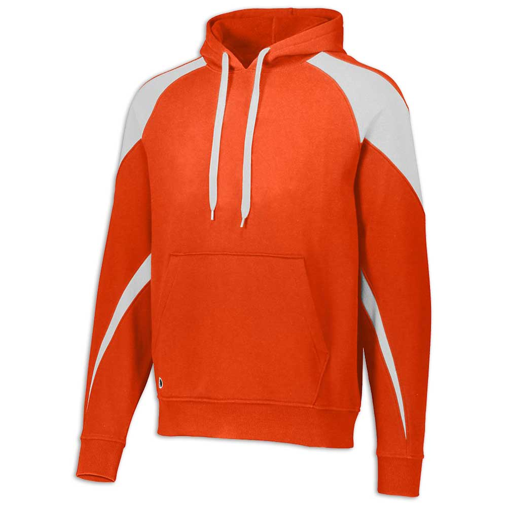 Orange and White Prospect Hoodie