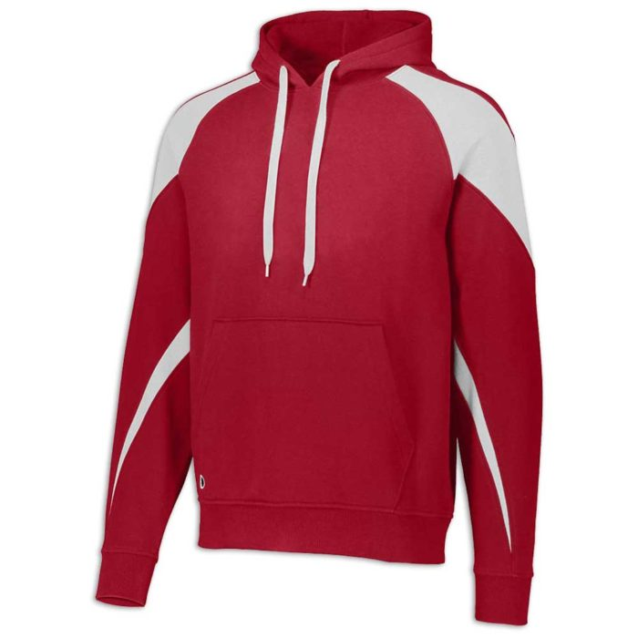 Red and White Prospect Hoodie