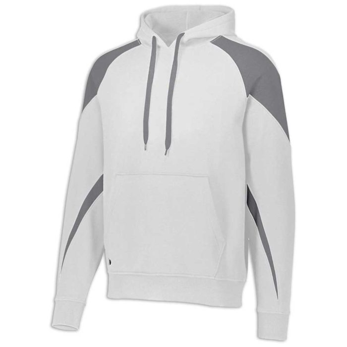 White and Charcoal Prospect Hoodie