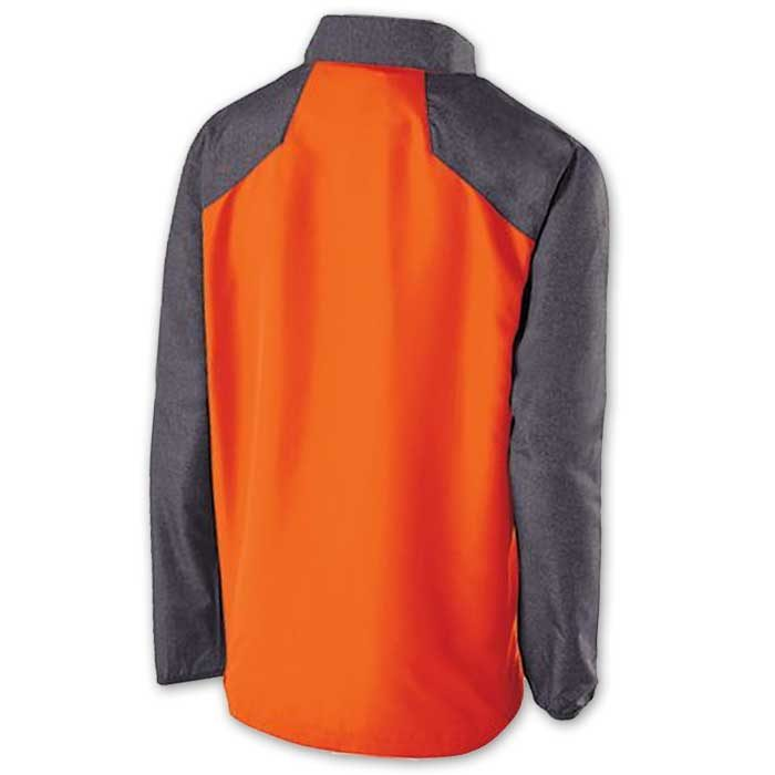 Back View of Raider long Sleeve Pullover Batting Jacket