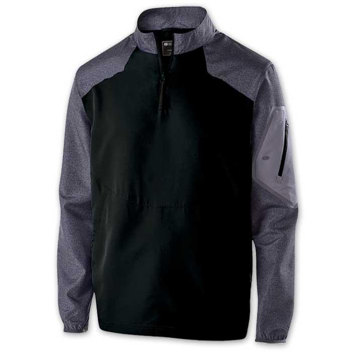 Black Raider long Sleeve Pullover Batting Jacket