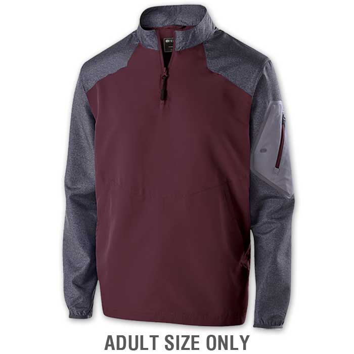 Maroon Raider long Sleeve Pullover Batting Jacket
