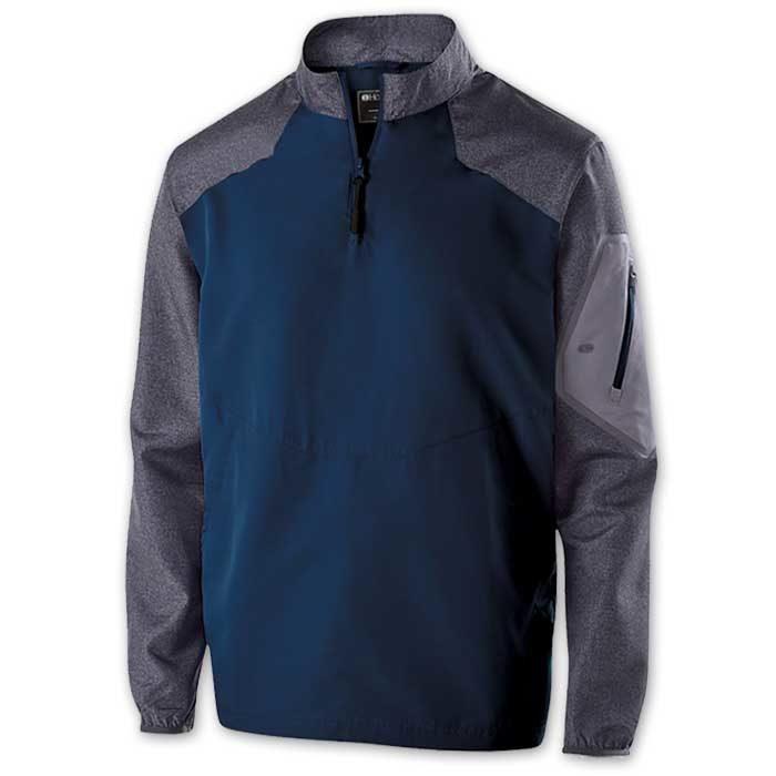 Navy Blue Raider long Sleeve Pullover Batting Jacket