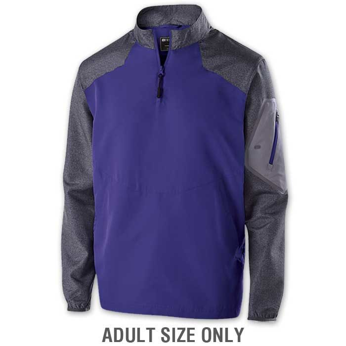 Purple Raider long Sleeve Pullover Batting Jacket