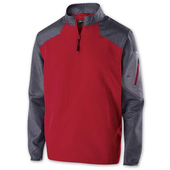 Red Raider long Sleeve Pullover Batting Jacket