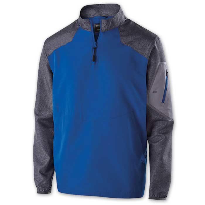 Royal Blue Raider long Sleeve Pullover Batting Jacket