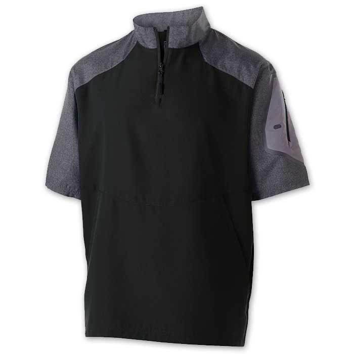 Black Raider Short Sleeve Pullover Batting Jacket