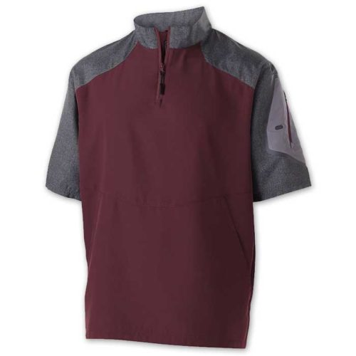 Maroon Raider Short Sleeve Pullover Batting Jacket