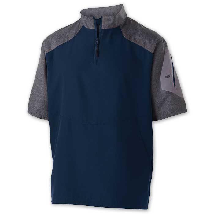 Navy Blue Raider Short Sleeve Pullover Batting Jacket