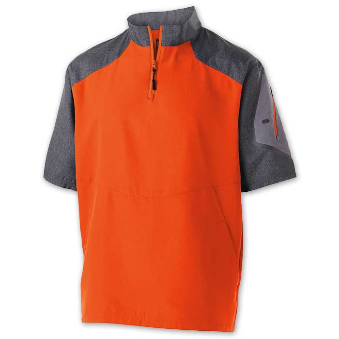 Orange Raider Short Sleeve Pullover Batting Jacket