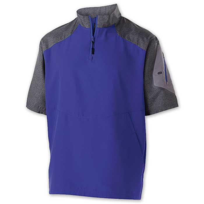 Purple Raider Short Sleeve Pullover Batting Jacket