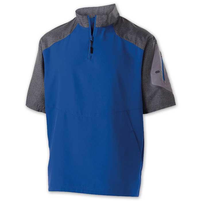 Royal Blue Raider Short Sleeve Pullover Batting Jacket