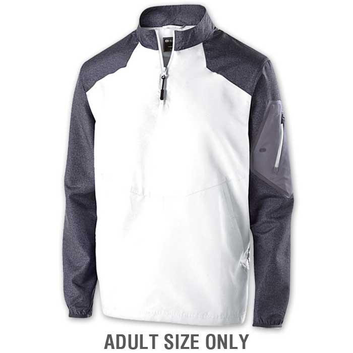 White Raider long Sleeve Pullover Batting Jacket