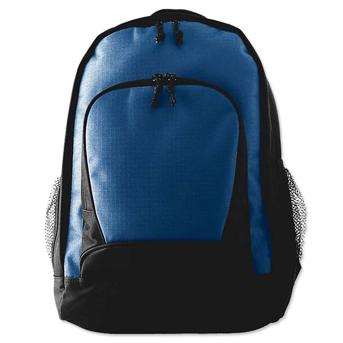 Augusta Ripstop Backpack in Navy Blue