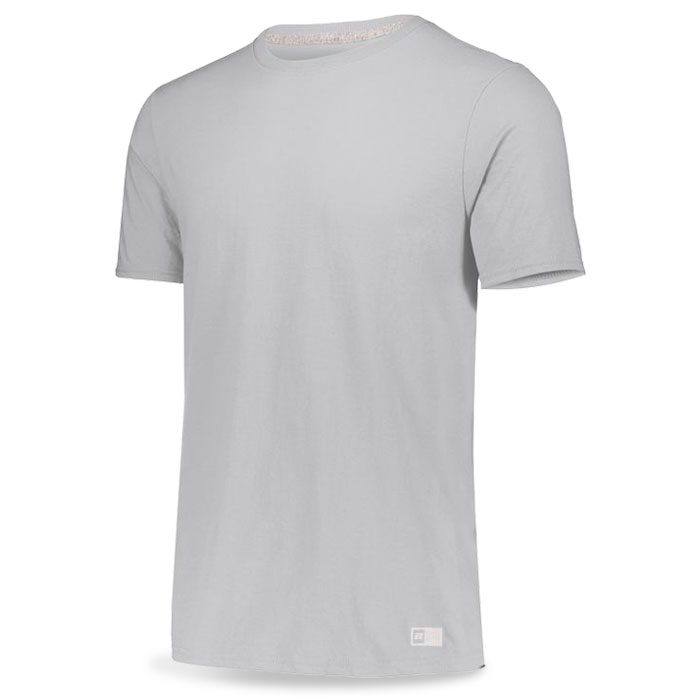 Ash Grey Russell Essential Tee Short Sleeve with Your Team Logo