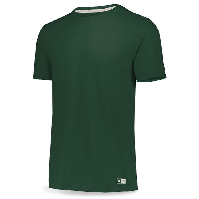 Forest Green Russell Essential Tee Short Sleeve with Your Team Logo