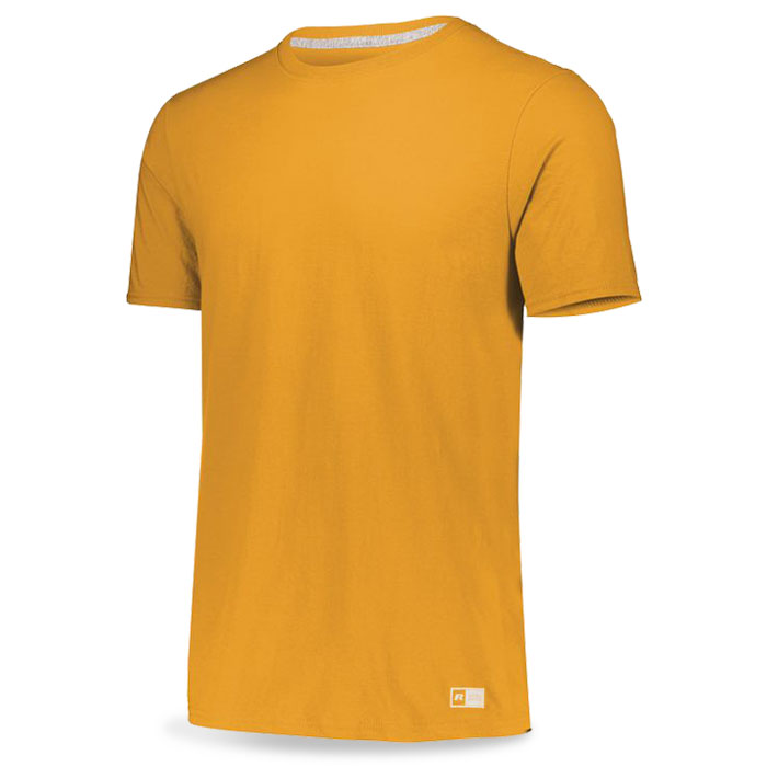 Athletic Gold Russell Essential Tee Short Sleeve with Your Team Logo