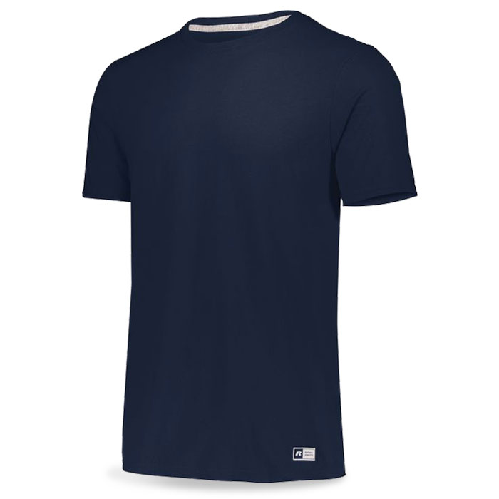 Navy Blue Russell Essential Tee Short Sleeve with Your Team Logo
