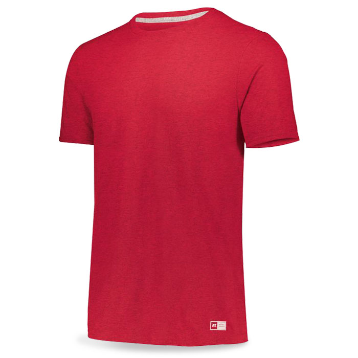 Vintage Heather Red Russell Essential Tee Short Sleeve with Your Team Logo