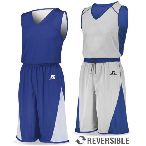Russell Undivided Reversible 2.0 Basketball Uniform Royal Blue
