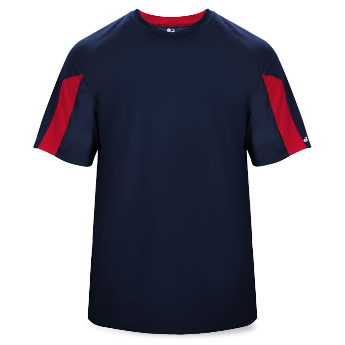 Basketball Striker Shooting Shirt in Navy Blue and Red