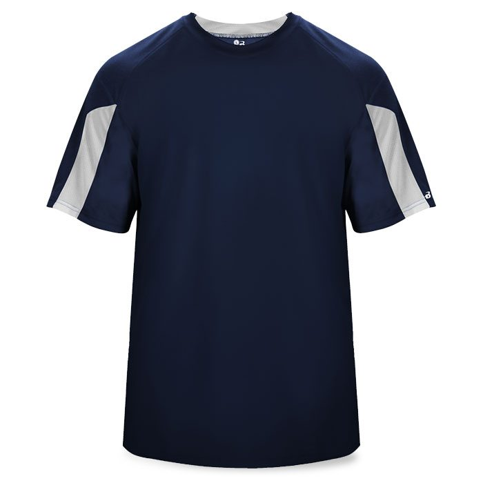 Basketball Striker Shooting Shirt in Navy Blue and White