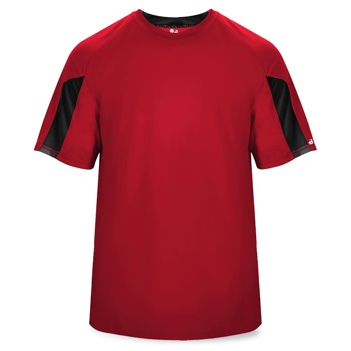 Basketball Striker Shooting Shirt in Red and Black