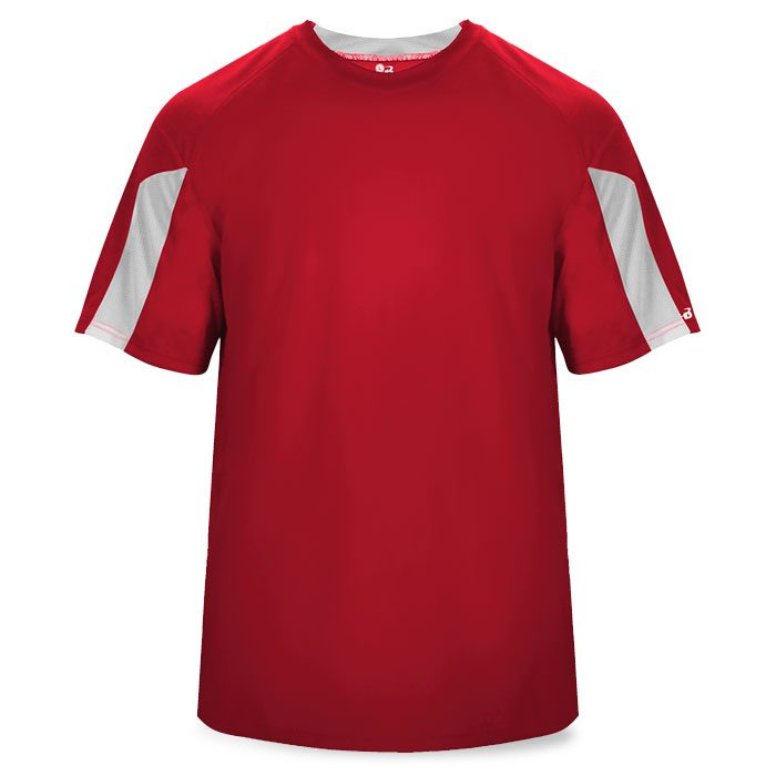 Basketball Striker Shooting Shirt in Red and White